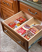 Bread Box with Partition & Planning u0026 Functionality u2013 Montecito Kitchens